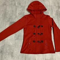 Nwot Guess Red Toggle Hooded Sweatshirt Large Photo