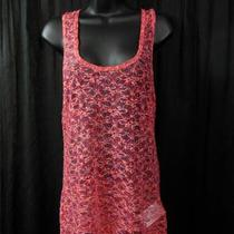 Nwot Guess Tangerine Sheer Lace Tank  Top Xl Photo