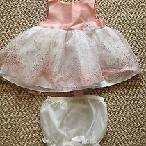 Nwot Holiday Editions Pink Blush White Formal Dress Sz 0-3 Months Photo