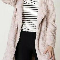 Nwot Hyfve Hyfve Hyfve Waterfall Collar Blush Pink Solid Teddy Coat Jacket - M Photo
