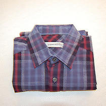 Nwot James Campbell Men's Long Sleeve Sport Shirt Size S 14 - 33/34 Photo