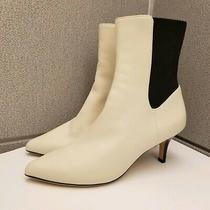 Nwot Joie Joli Rali Ivory Kitten Heel Minimalist Off White Color Women's Boots  Photo