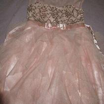 Nwot Jona Michelle Blush Pink Sequin Tulle Skirt Party Dress Girls 7 Photo