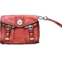 Nwot Karen Millen Orange Lamb Leather Handbag Clutch Photo