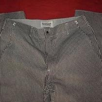 Nwot Kitchen Basix by Pinnacle Black & White Houndstooth Chef Pants Size 36 Photo