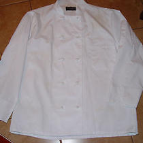Nwot Kitchen Basix by Pinnacle White Chef Coat Jacket L Photo