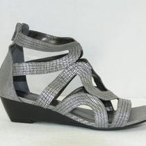 Nwot Lane Bryant Imitation Hematite Low Heel Sandal Sz 9w Photo