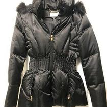 Nwot Laundry by Shelli Segal Black Puffer Coat Size Xs Photo