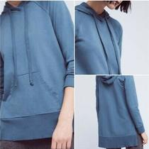 Nwot Left of Center Anthropologie Women's Blue Hoodie Sweatshirt / Sweater Xs Photo