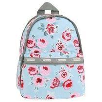 Nwot Lesportsac Basic Backpack Garden Sky Rose 7812 D796 Photo