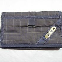 Nwot Lesportsac Blue Striped Velcro Wallet/billfold Photo