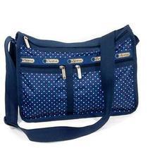 Nwot Lesportsac Deluxe Everyday Bag Crossbody Messenger Nauticool Polka Dots Photo
