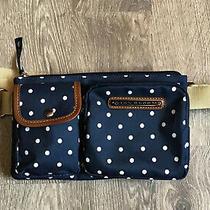 Nwot Lily Bloom Polka Dot Navy Blue Janet Belt Bag Fanny Pack Eco Karma Bloom Photo