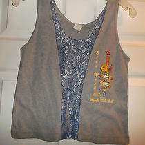 Nwot Live to Ride - Ride to Live Bike Wk 2001 Myrtle Beach Gray Tank Blue & Gray Photo