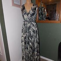Nwot Magaschoni Collection Faux Wrap Floor Length Dress Size 8 Photo