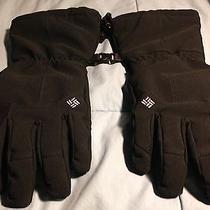 Nwot Men's Columbia Black Snowboard / Ski Omni Heat Gloves S Photo