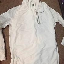 Nwot Men's Nike Xl Therma Sphere Element Hybrid Hoodie Half-Zip Running White Photo