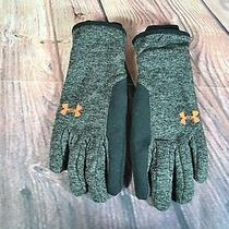 Nwot Men Under Armour Element Fleece Gloves Coldgear Infrared Black/gray Sz S Photo
