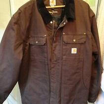 Nwot Mens Brown Carhartt Full Swing Insulated Barn Chore Jacket - Sz 2xl Photo