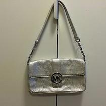 Nwot Michael Kors Silver  Shoulder Shoulder Handbag  Photo