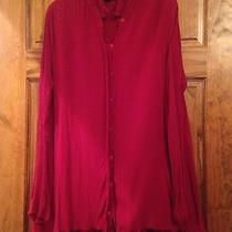 Nwot Minkpink Urban Outfitters Gauze Shirt Dress Large Photo
