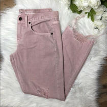 Nwot Mossimo Blush Pink Boyfriend Cropped Distressed Jeans Womens Size 0/25r Photo