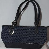 Nwot Navy Blue the Sak Purse Small Bag Crochet Black Trim Photo
