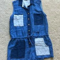 Nwot New Yfb  Young Fabulous  & Broke Button Down Romper Shortall S Small  4 6 Photo