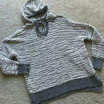 Nwot New Young Fabulous & Broke Long Hooded Sweater Top S/m Small/medium Melange Photo