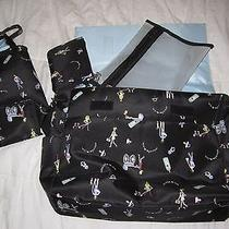Nwot Nicole & Co Nicole Miller Diaper Changing Pad Bottle Warmer Baby Bag Tote Photo