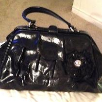 Nwot Nicole Miller Handbag/purse Black Tiered With Flo Flower Detail Gorgeous Photo