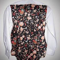 Nwot Nicole Miller White Wing Collar Boys Unique & Rare Tuxedo Shirtsz M Photo