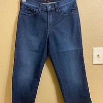 Nwot Not Your Daughters Jeans Marilyn Denim Crop Jeans Sz 6 Dark Wash Stretch Photo