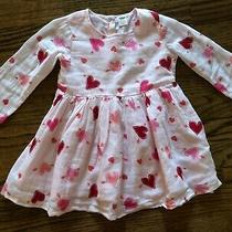 Nwot Old Navy Pink Red Hearts Dress Valentine's Day Size 18-24 Months   Photo