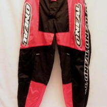 Nwot Oneal Racing Elements Pants Mens 38 Kevlar Black Red Motocross Atv Dirt Bik Photo