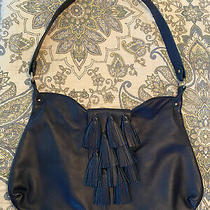 Nwot Onna Ehlrich Navy Blue Purse Tote Large Hanbag  Boho Hippie Tassels Hobo Photo