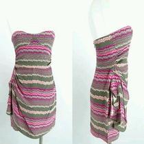 Nwot Parker  Silk Satin Sheen Ruched Strapless Dress Sz Xs Photo