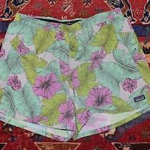 Nwot Patagonia Long Womens Baggie Tropical Hibiscus Shorts Size L Photo
