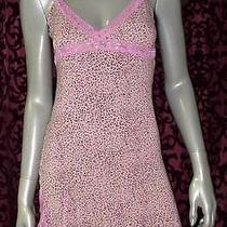 Nwot  Pj Salvage Pink Leopard Print Chemise Nightie Sleepwear  S Photo