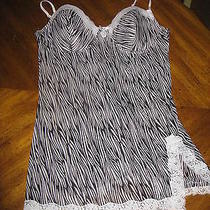 Nwot Rampage Size 2x Sheer Zebra Print Lingerie Nighty Nightgown Photo