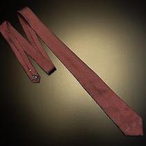 Nwot Recent Lanvin Paris Burgundy Red Black Pink Fine Dot Italy Woven Silk Tie Photo