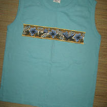 Nwot Roxy Quiksilver Jr Size Small Sleeveless Tank T-Shirt Tee Top Aqua Photo