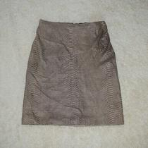 Nwot Rp 798  Bcbg Maxazria Genuine Leather Python Print Olive Gray Skirt Size 8 Photo