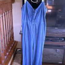 Nwots Aeropostale Lace-Up Jeans Jumpsuit Size L Photo