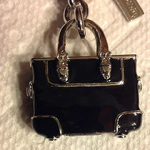 Nwot's Coach Black 3d Gallery Tote Keychain / Fob / Key Ring / Charm Photo
