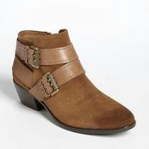 Nwot Sam Edelman 160 'Pippen' Suede/leather Ankle Boots in Tan Size 9.5m(40) Photo
