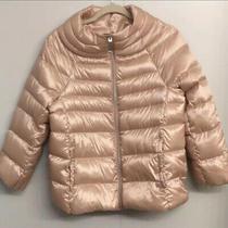Nwot Sam Edelman Blush Satin Funnel Neck Coat Lightweight Puffer Jacket Size S Photo