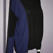 Nwot Sanctuary Clothing Colorblock Sheer Mesh Sleeve & Back Knit Sweater Top M Photo