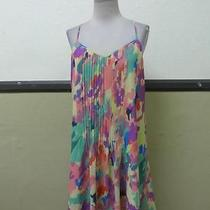 Nwot Sanctuary Water Color Print Pleated Dress-(As Is) Photo