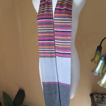Nwot Smashin'ciaobella Missoni 'M' So-Cool Striped Knit Skinny Scarf 78